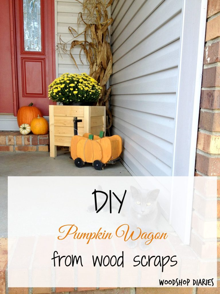 How to make a DIY pumpkin wagon from wood scraps