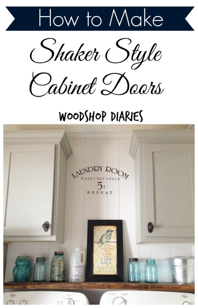 How to make simple Shaker Cabinet Doors Pin Image