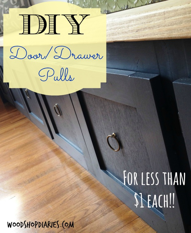 Adorable, super cheap DIY door/drawer pulls for less than $1 each!--WoodshopDiaries