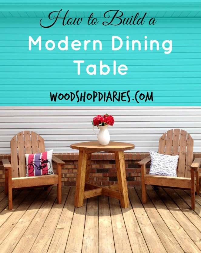 Build this simple modern dining table for about $30 in lumber--Woodshop Diaries