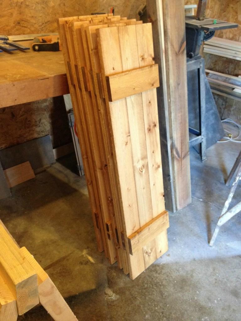 shutters assembled