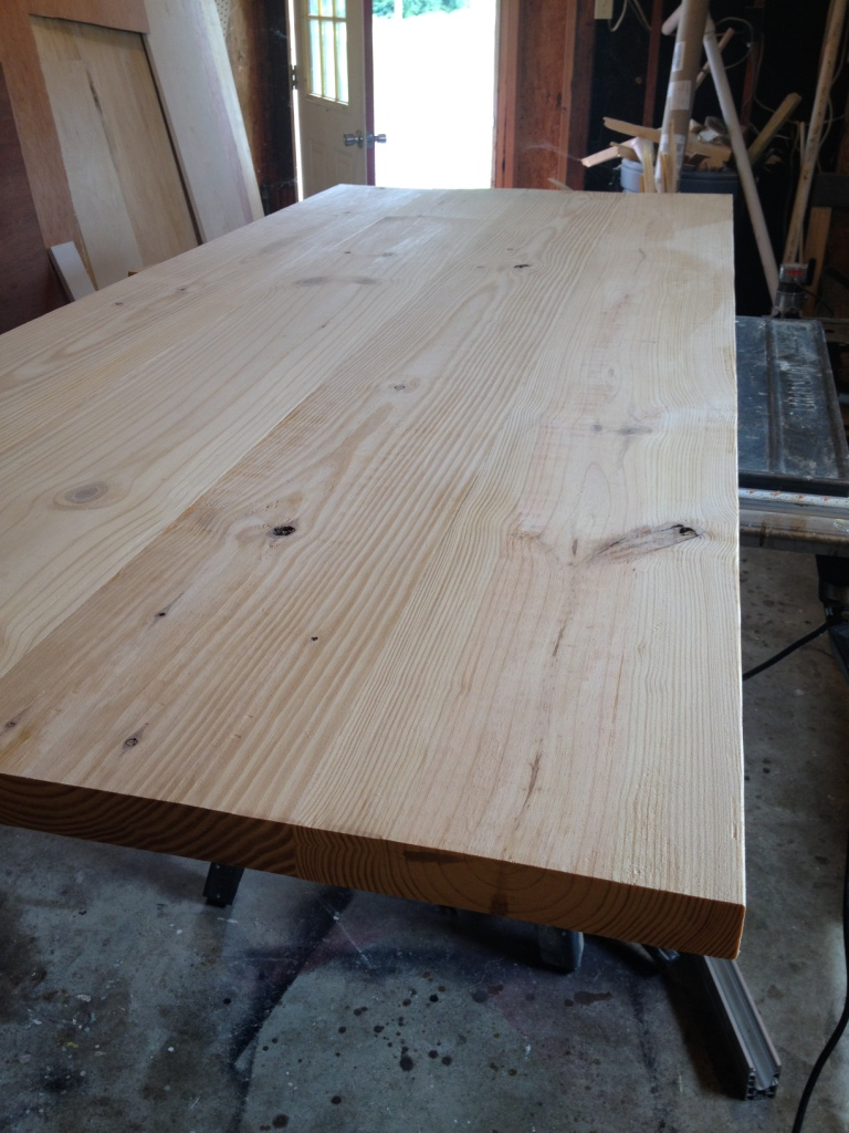 table top after sanding