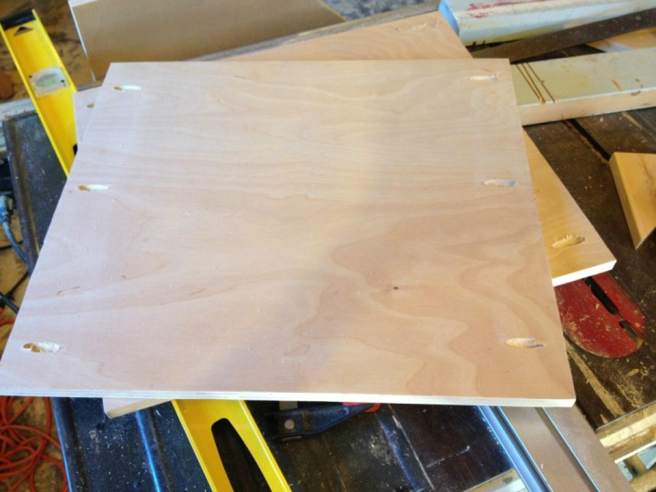 Side Cabinet bottom panel pocket holes for assembly