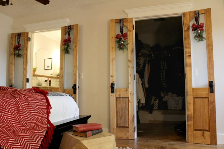 Dress up your closet or bathroom with these gorgeous DIY French doors