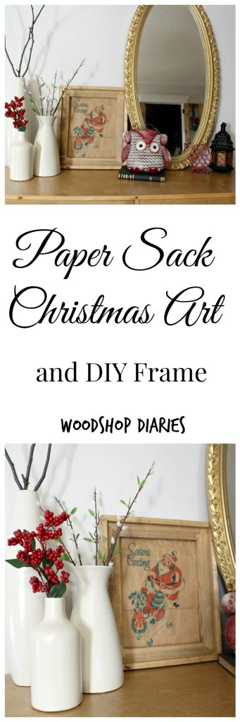 Paper Sack Christmas Art and DIY Frame