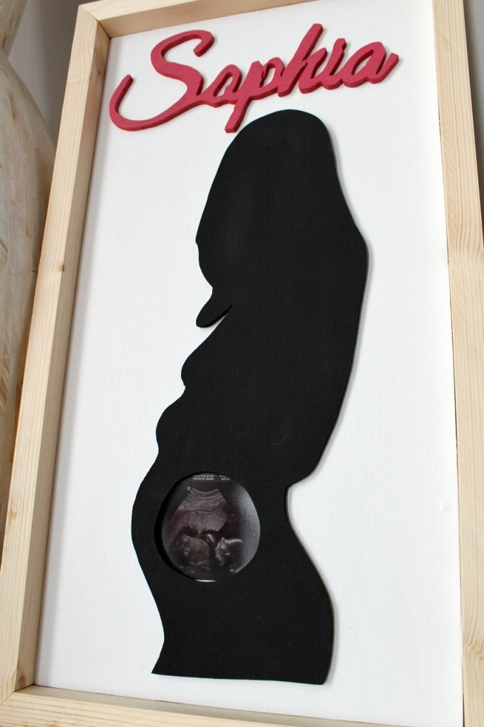 DIY Personalized Baby Gift Idea--Ultrasound Frame