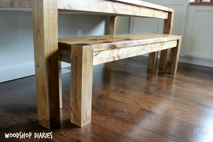 DIY Modern Farmhouse Dining Bench