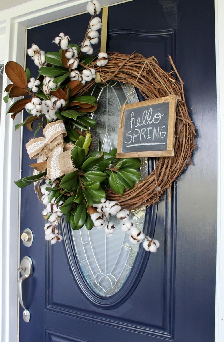 Super Easy Diy Dish Soap 3 Ingredients: Super Easy DIY Spring Wreath {using Magnolia And Cotton}