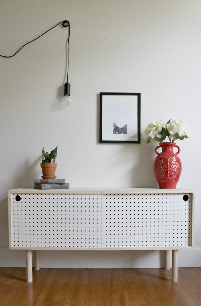 How to build a Mid Century Modern Pegboard Cabinet