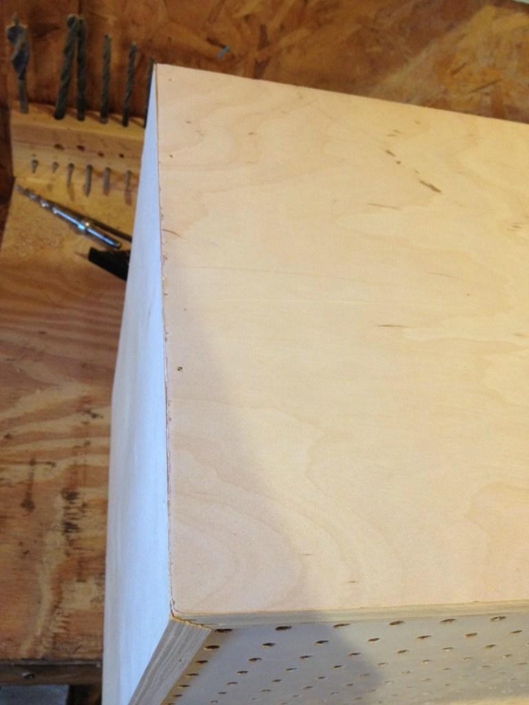 DIY Modern Peg Board Cabinet