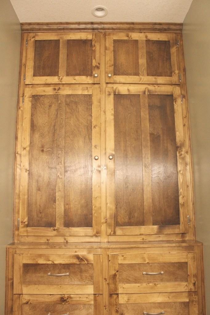 Built in shaker style doors