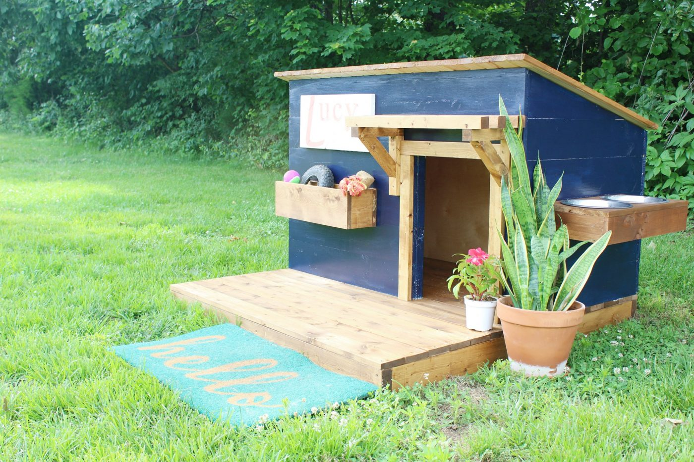 A new home for lucy modern diy dog house