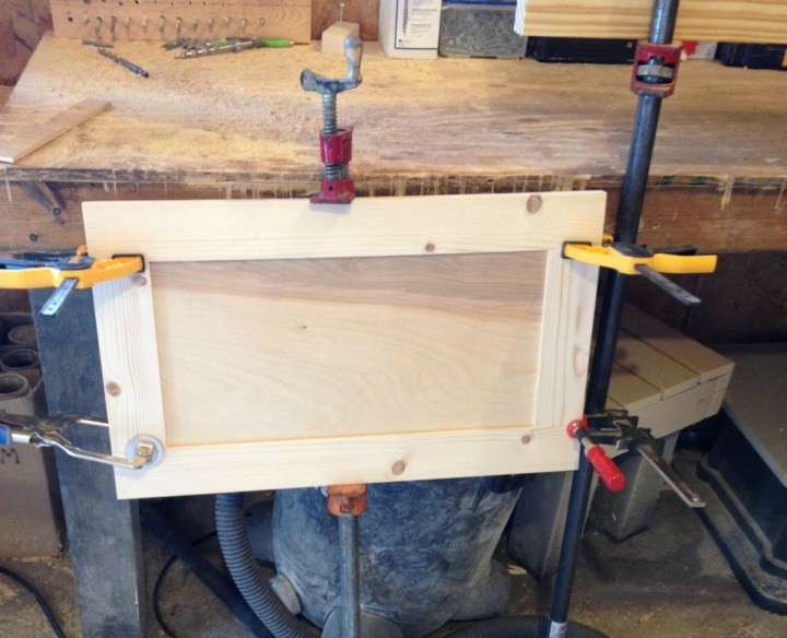 Doors for DIY cabinet gluing up in clamps