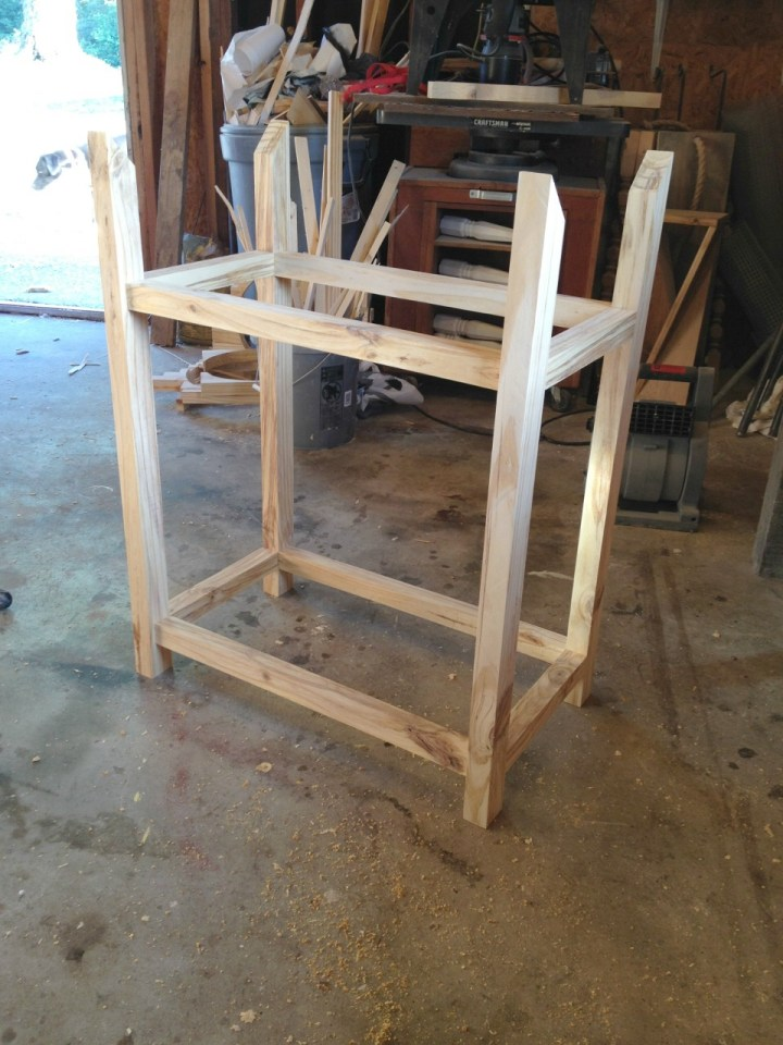 How to assemble bar cart frame pieces