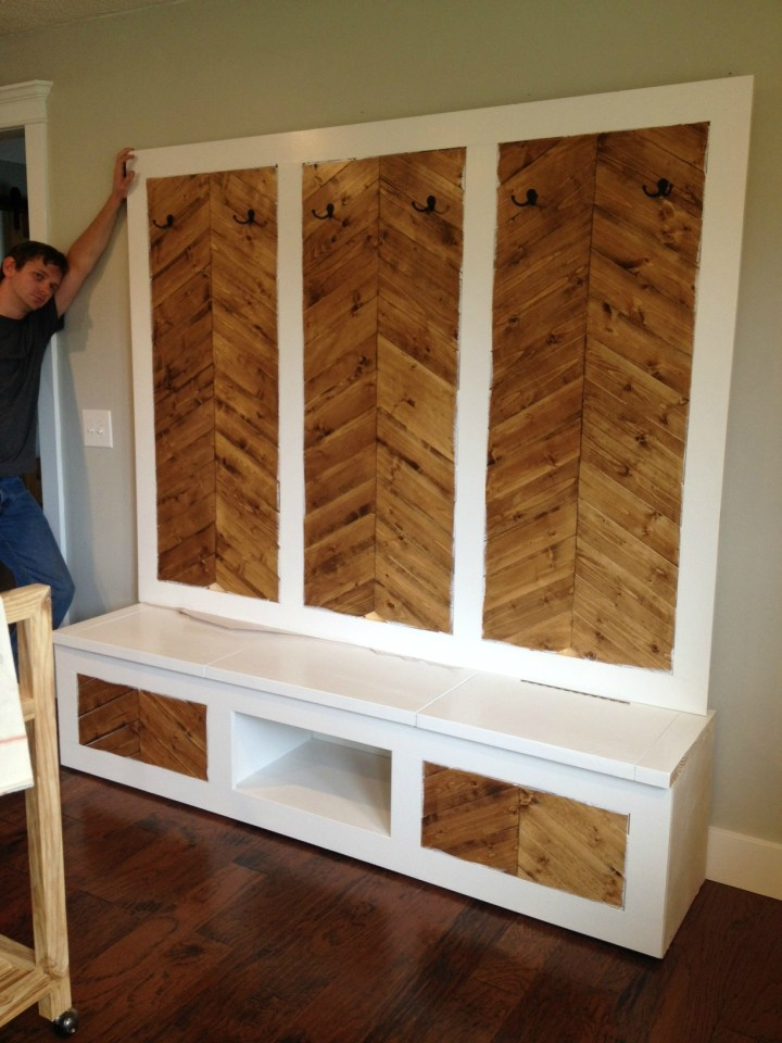 Test fitting mudroom built ins