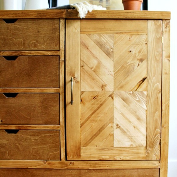 How to build a Modern DIY Dresser Armoire