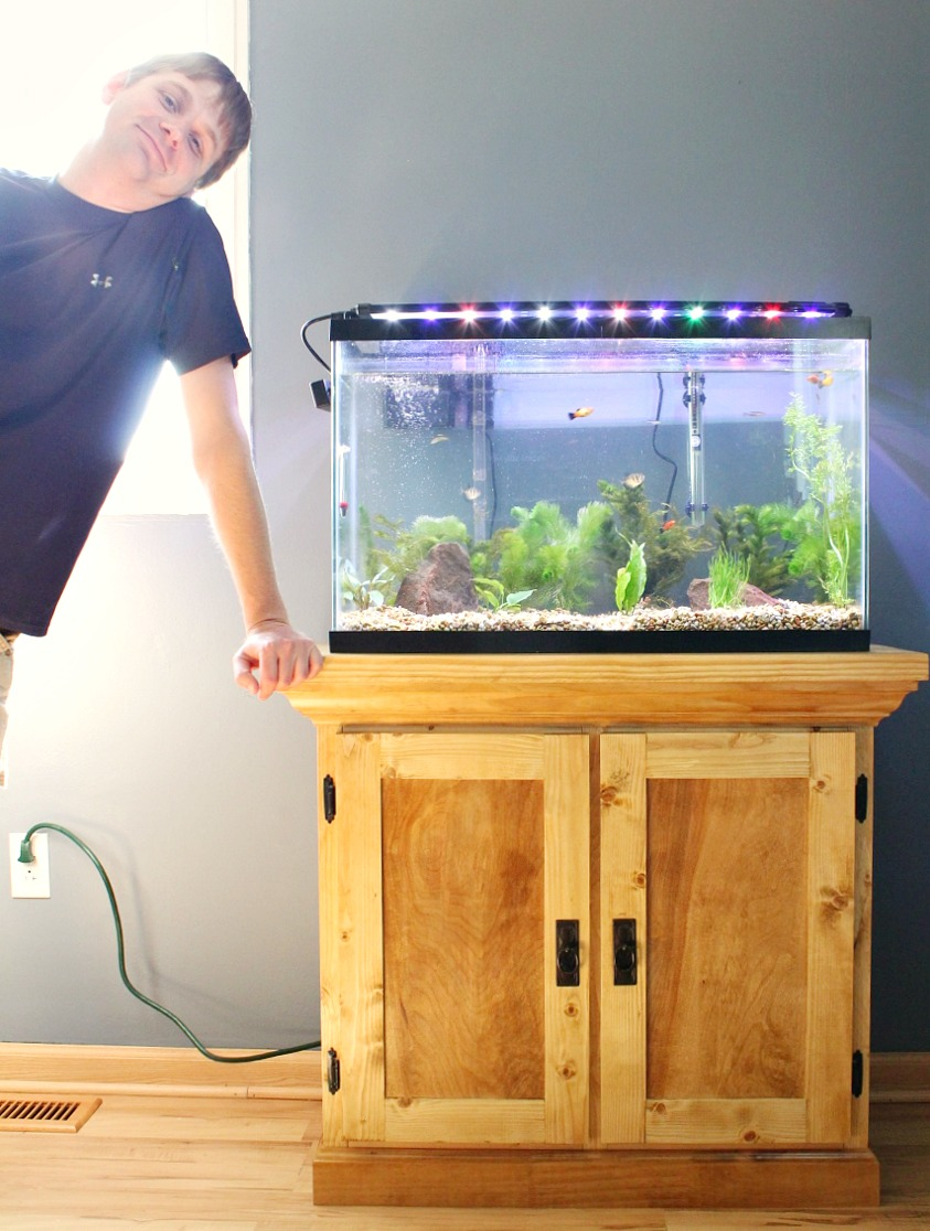 Fish Tank Stand Designs : How to build an aquarium cabinet stand the start of a man cave