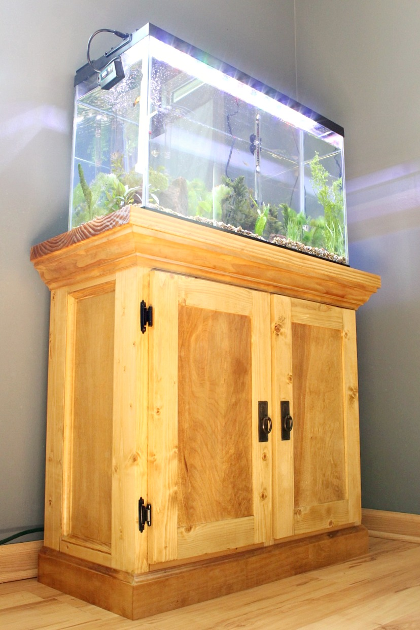 how to build an aquarium cabinet stand the start of a man cave rh woodshopdiaries com