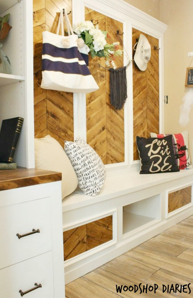 DIY Mudroom Built Ins Transformation--The After