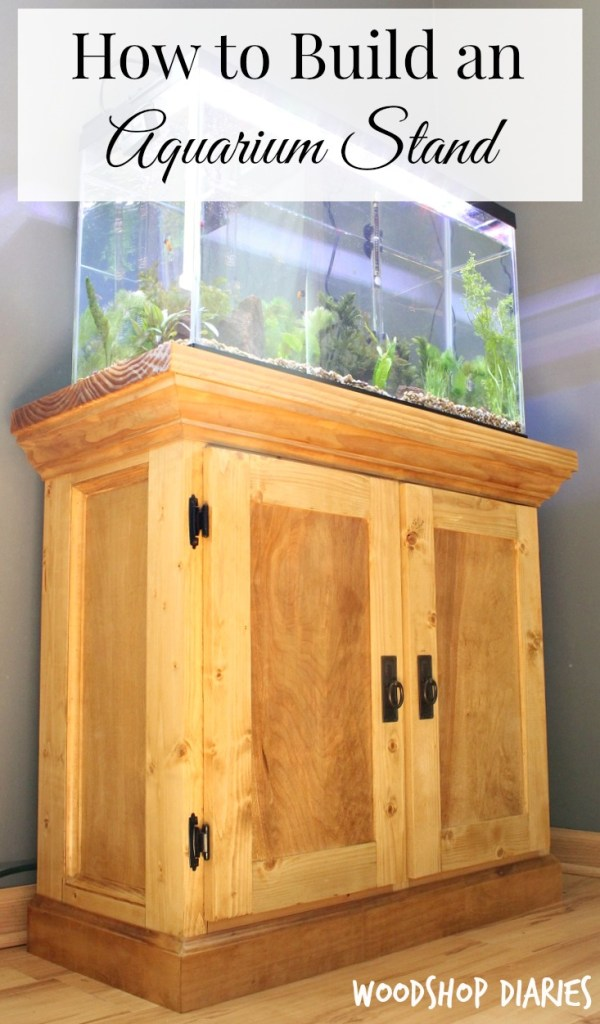 How to Build a DIY Aquarium Cabinet Stand Pinterest Image