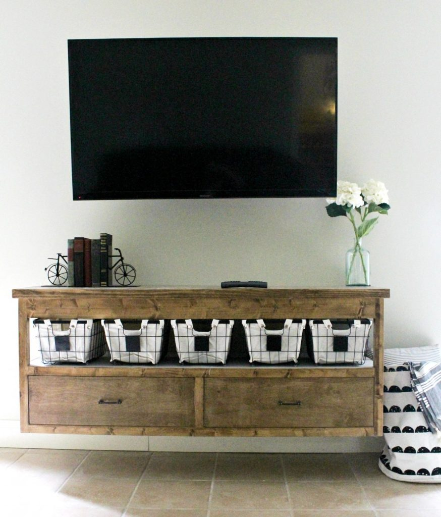 Floating TV Console with drawers