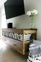 How to build a modern DIY floating TV console