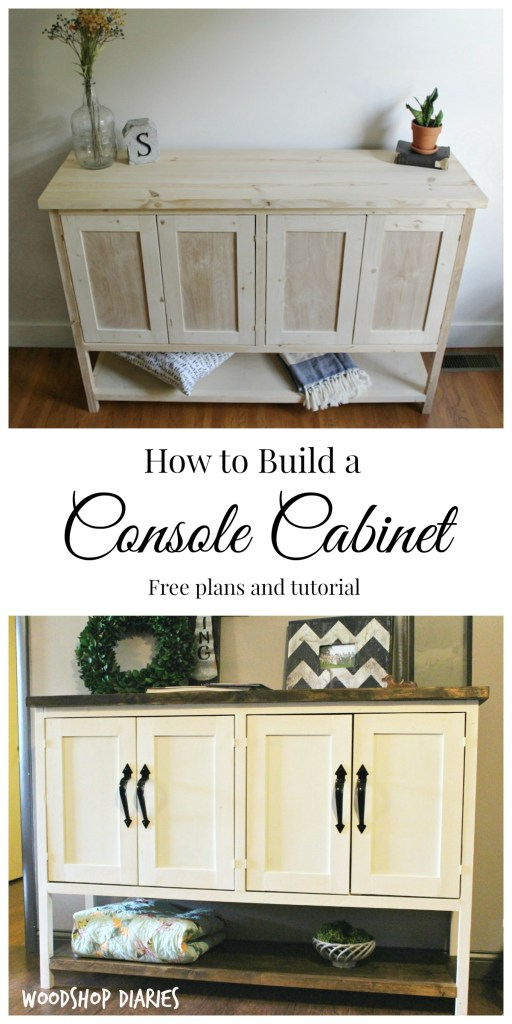 How to build a Gorgeous DIY Console Cabinet