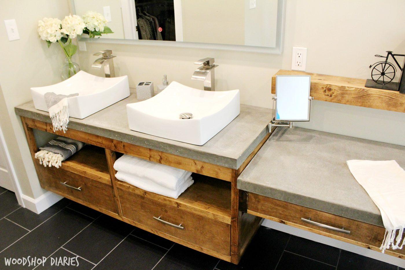 Woodshop Diaries Floating Bathroom Vanity