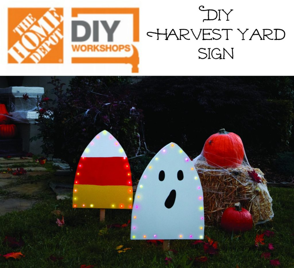 Get registered for the DIH Home Depot Workshop to make this super fun Harvest Yard Sign!
