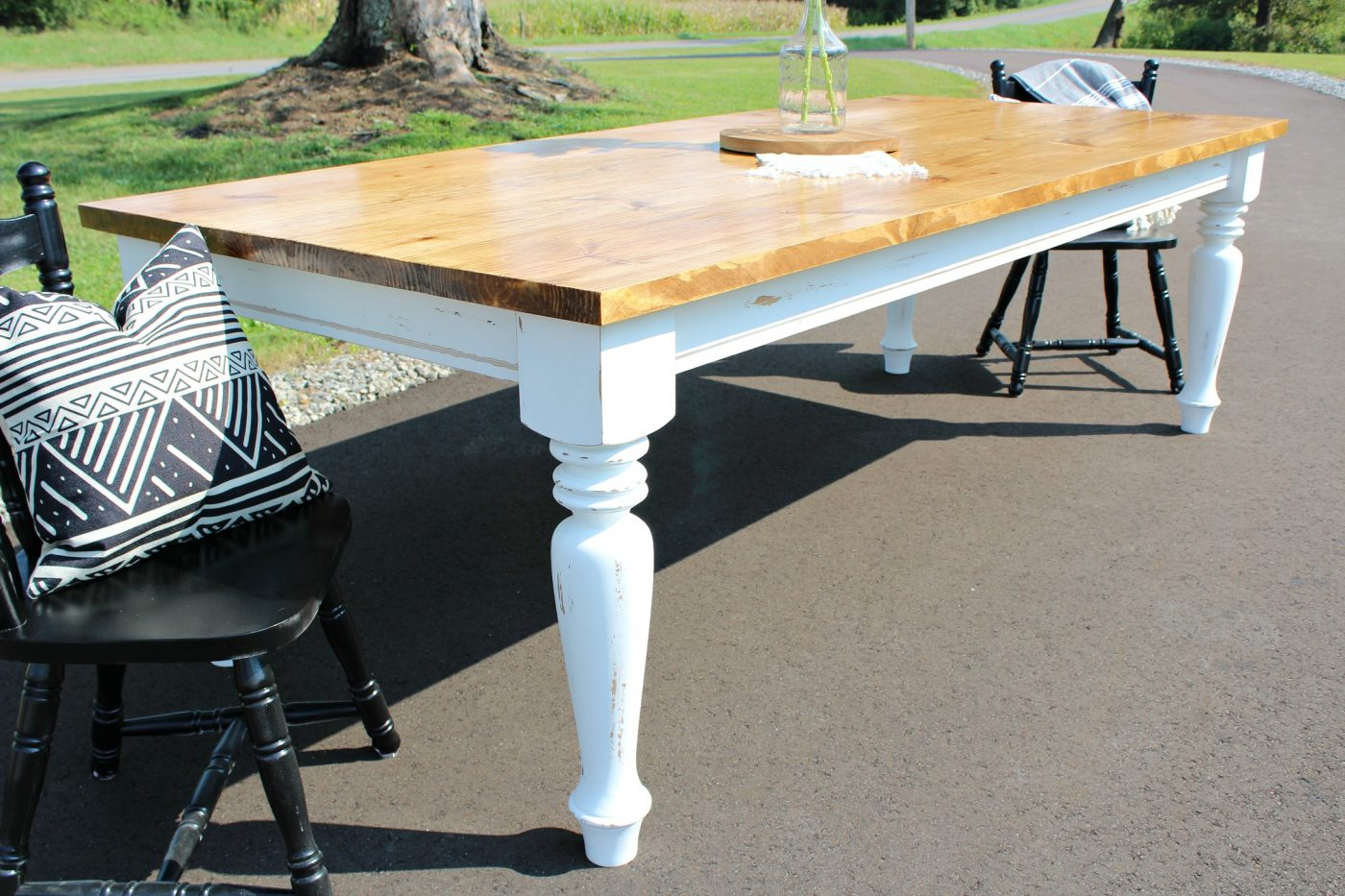 build kitchen table lighting over sink how to a diy farmhouse dining your own minwax early american top and