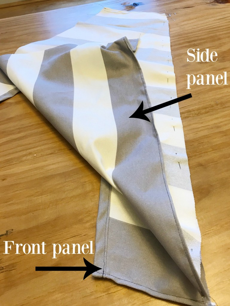 How to sew diy dog tent panels together
