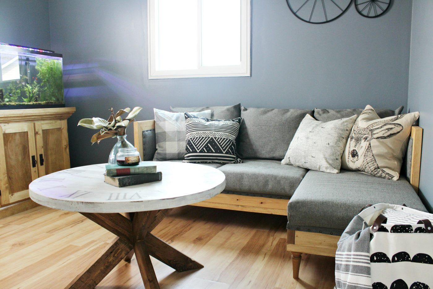 Diy living room furniture White How To Make Diy Upholstered Couch In Man Cave Room Woodshop Diaries Build Your Own Diy Upholstered Couch