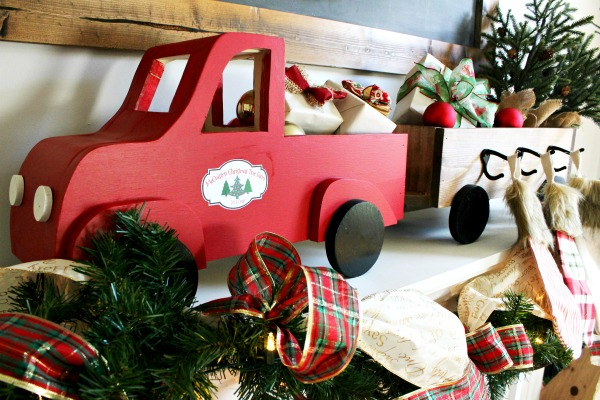 How to make a Truck and Trailer DIY Stocking Holder Box