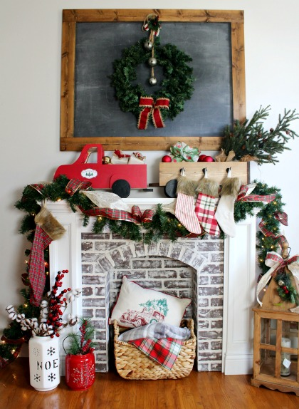 DIY Stocking Holder Box--DIY Christmas Truck and Trailer decoration you can make yourself!