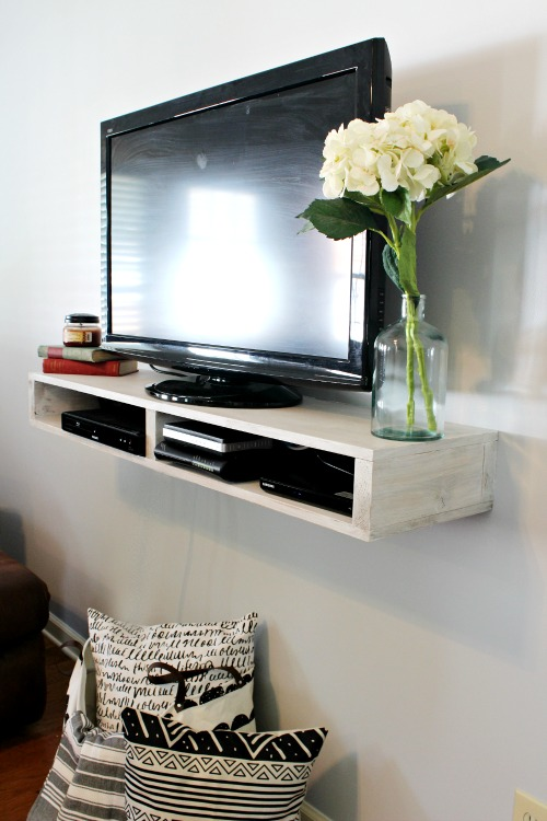 Tv Shelf Part - 30: Free Building Plans To Make This Super Easy DIY Floating TV Shelf That  Could Also Be