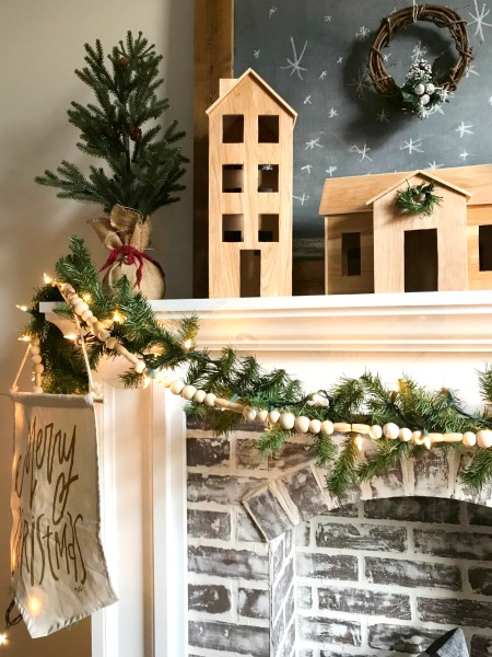 How to make your own DIY wooden Christmas village--Scandinavian Christmas Style