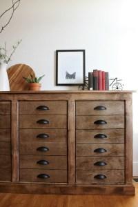 DIY Fake Drawer Dresser Cabinet--Faux DIY apothecary cabinet