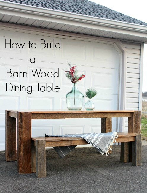 How to build a barn wood dining table from reclaimed tobacco barn wood! Build your own DIY dining table with this tutorial.