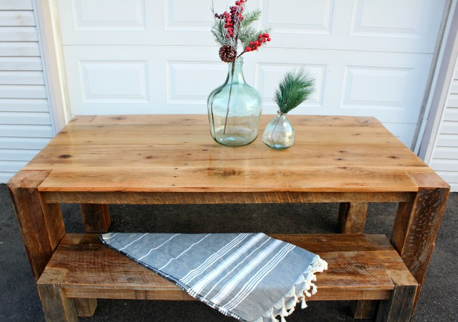 DIY Barn Wood Table--From Tobacco Barn to Dining Table