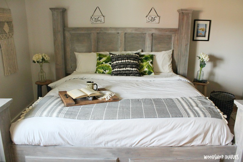 DIY Farmhouse Storage Bed--Free Woodworking Plans and Video ...