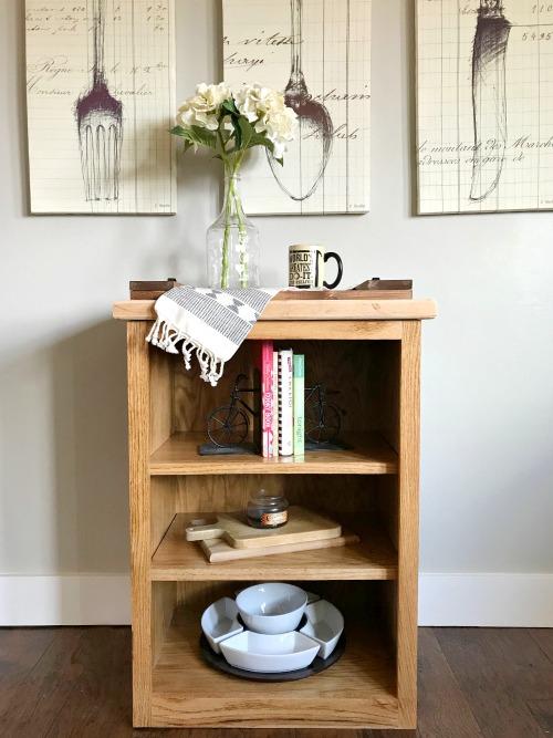 Small Oak DIY Book Shelf