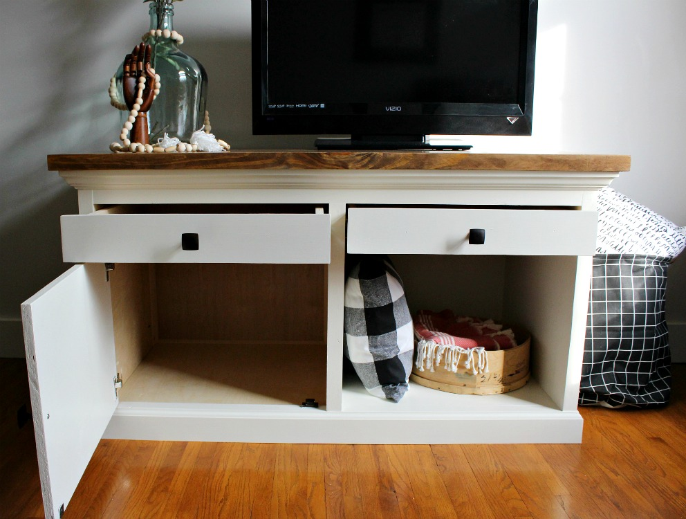 How to Build a Combination Storage Cabinet TV Stand