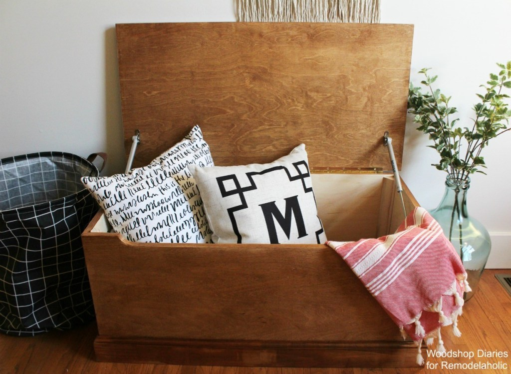 Super simple DIY storage trunk made from a single sheet of plywood!