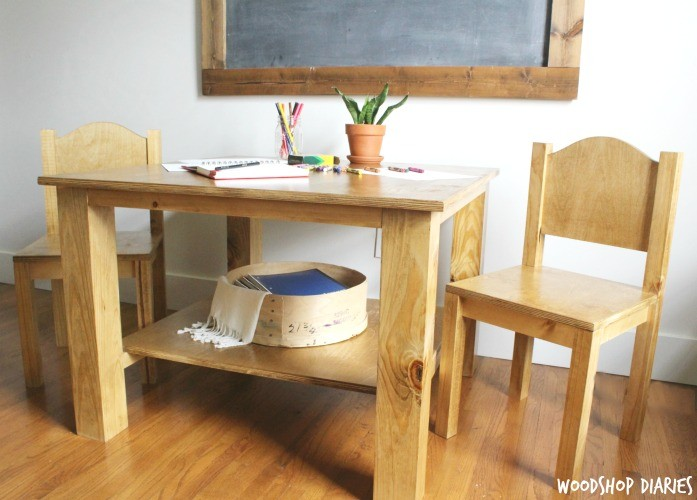 kids table with chairs ladder back for sale how to build a diy play and free building plans children s so get out there while still some summer left