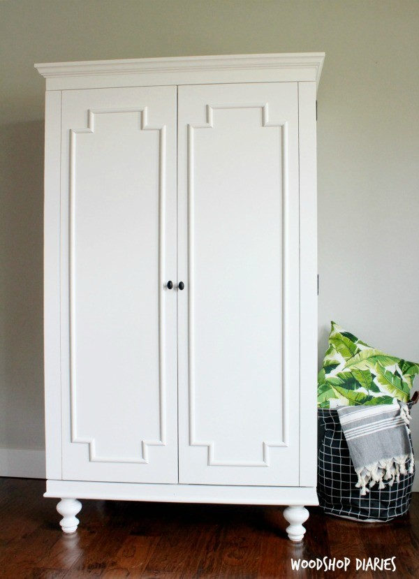 Build Your Own Wardrobe Storage Cabinet with Shelves