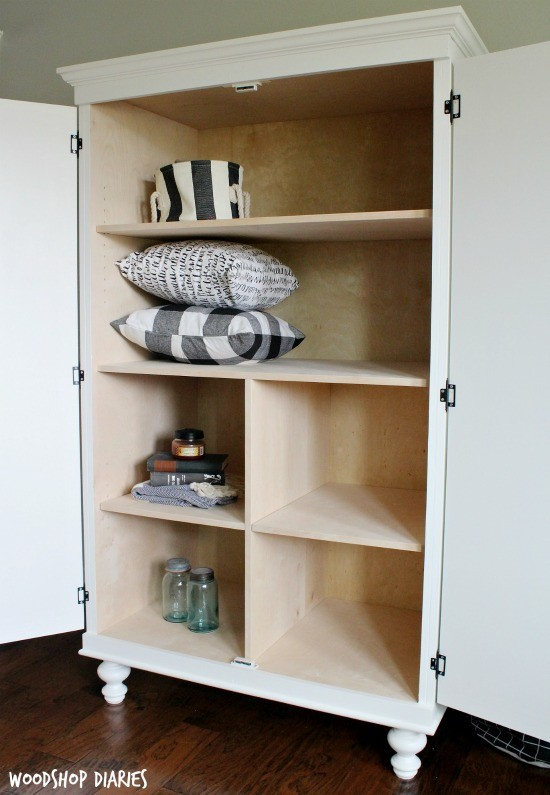 How to Build your own Storage Wardrobe Cabinet--free building plans and tutorial