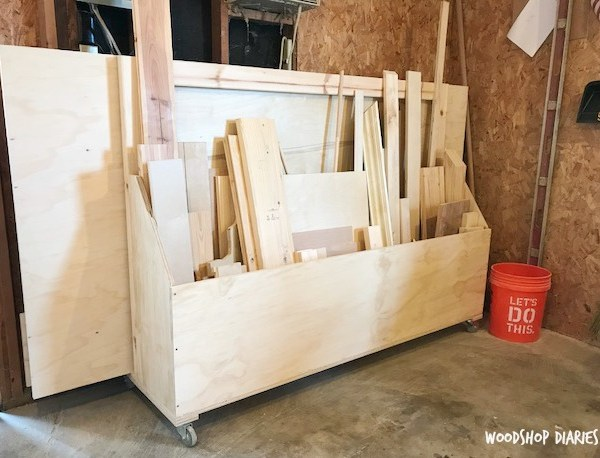 How to Build a DIY Rolling Scrap Wood Cart