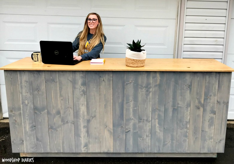 How to Build Your Own Standing Desk--With planked sides and a shelf, this makes a great cashier kiosk or standing desk