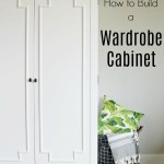 How to Build a Wardrobe Storage Cabinet that looks great in any room in the house! Finished in Sherwin Williams Alabaster and made from PureBond Plywood, this gorgeous DIY piece is one you'll be proud you made yourself!