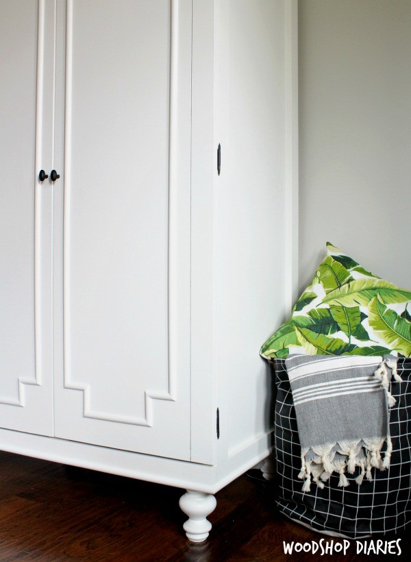 DIY Wardrobe Cabinet Armoire